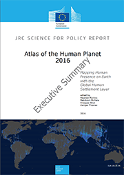 Front cover of the Executive Summary for the Atlas of the Human Planet 2016